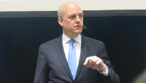 Fredrik Reinfeldt på Fastighetsmässan Syd