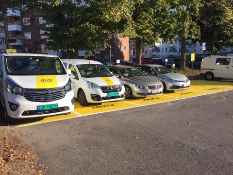 Utvidet bilpoolplasser på Carl Berner