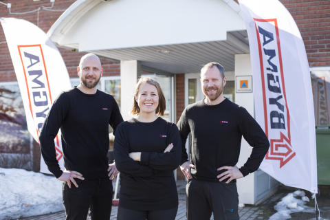 Efter branden – nu flyttar Bygma Umeå in i nya lokaler