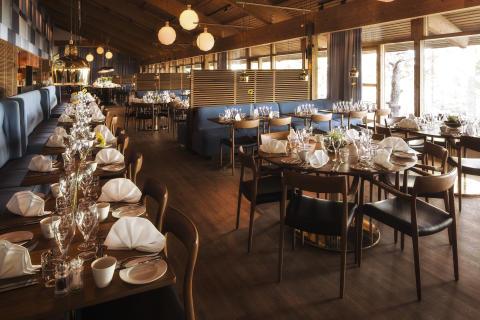 Restaurang med panoramautsikt