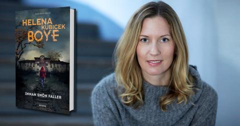 Helena Kubicek Boye i SVT:s Morgonstudion