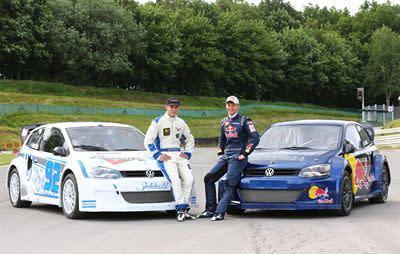 Marklund Motorsport mönstrar en intressant duo i unge Anton Marklund (t.v.) och rutinerade DTM-stjärnan Mattias Ekström. Båda kör var sin Volkswagen Polo i den svenska EM-deltävlingen i Höljes.