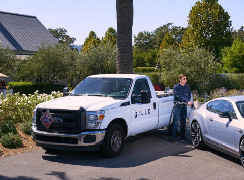 Fältcom enables trial of luxury connected car gas delivery service in Silicon Valley