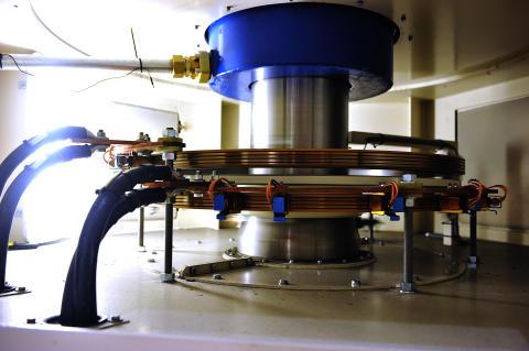 Illustrasjon: Generator på Hunsfoss kraftstasjon