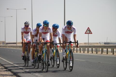 Menn U23 under trening sykkel-VM 2016