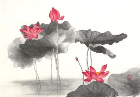 Allure of Chinese Ink Painting by VSA Singapore at Pan Pacific Singapore's Public Art Space