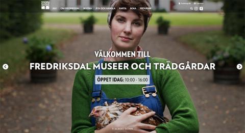 Fredriksdal museer och trädgårdar får ny webbplats
