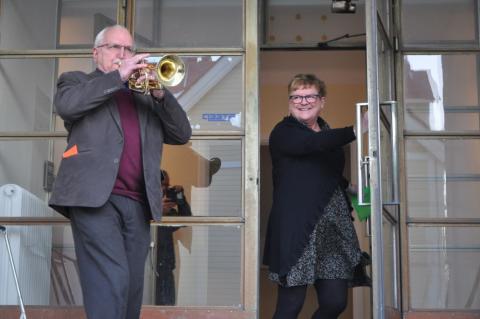 Trumpetfanfar invigning Vårsta Trygghetsboende