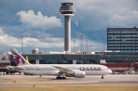 Qatar Airways Dreamliner Arlanda
