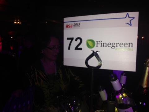 Finegreen at the HSJ Awards 2013