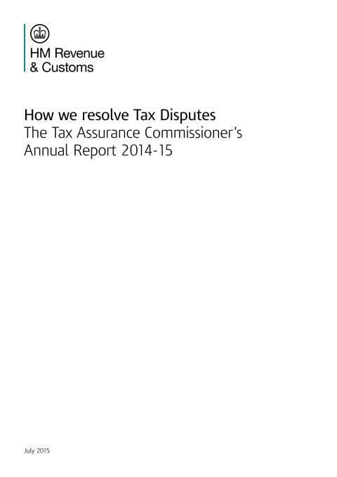 Tax Assurance Report 2014-2015
