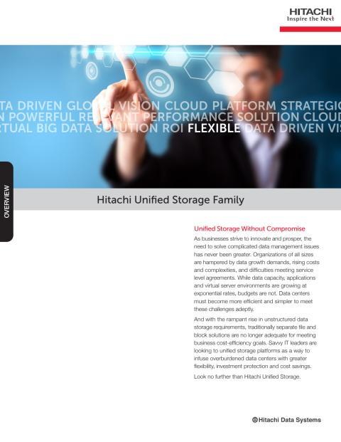 Hitachi Unified Storage 100 Family