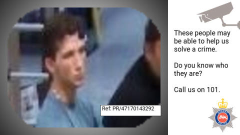 Can you help us identify this man from CCTV images and help our fraud investigation?