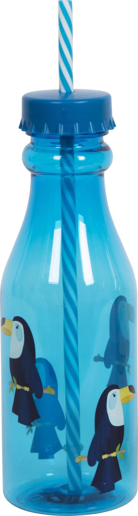 Nille - plastflaske med sugerør