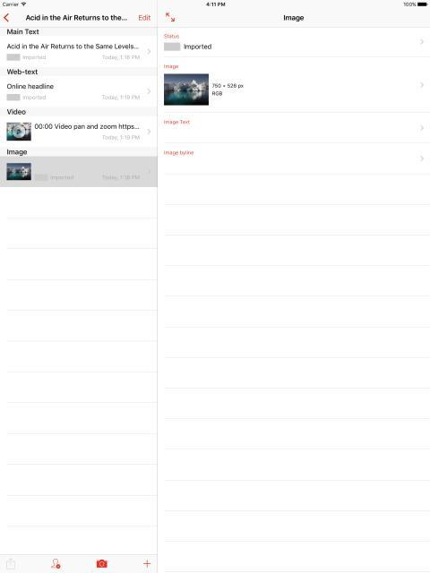 Roxen Roamer iPad sample story