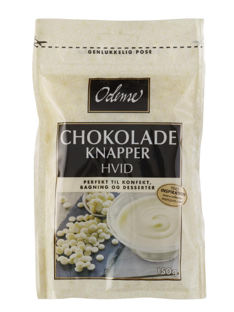 ODENSE Chokoladeknapper Hvid