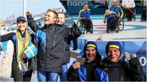 Möt de svenska Paralympiska hjältarna från PyeongChang när de landar i Sverige