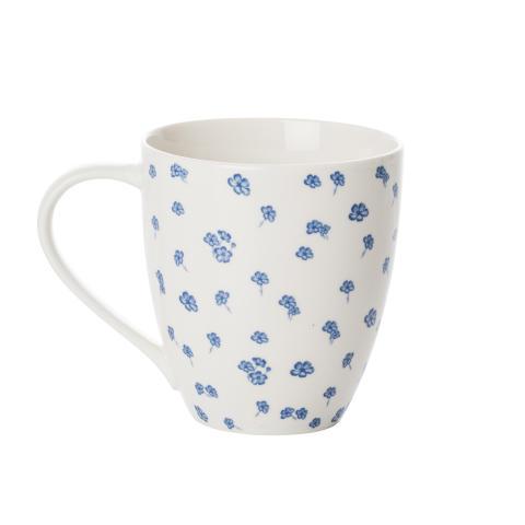 Madeleinekrus: små blå blomster