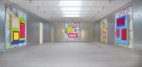 Installationsbild Peter Halley