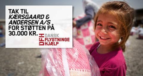 KAAI støtter Dansk Flygtninge Hjælp