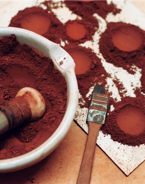 Falu Rödfärg, färgpigment.