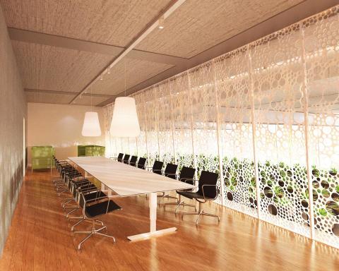 Plantagon World Food Building interior