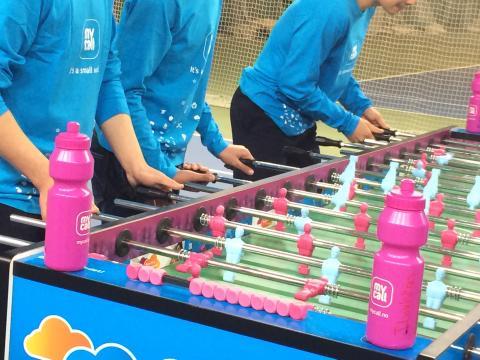 Fussball bordet inviterte til mange spennende konkurranser