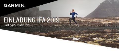 Einladung: Garmin präsentiert auf der IFA 2019 neue Wearable-Trends
