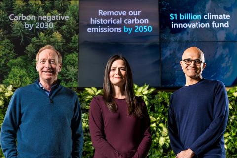 Microsoft skal bli karbonnegative innen 2030