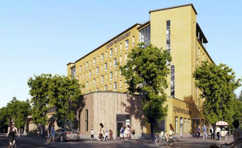 Första spadtaget för nya bostäder i Täby park