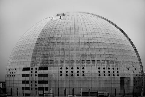 Miljön i fokus när Globen tvättas för första gången