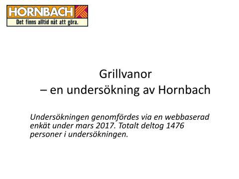 Grillundersökning Hornbach, diagram