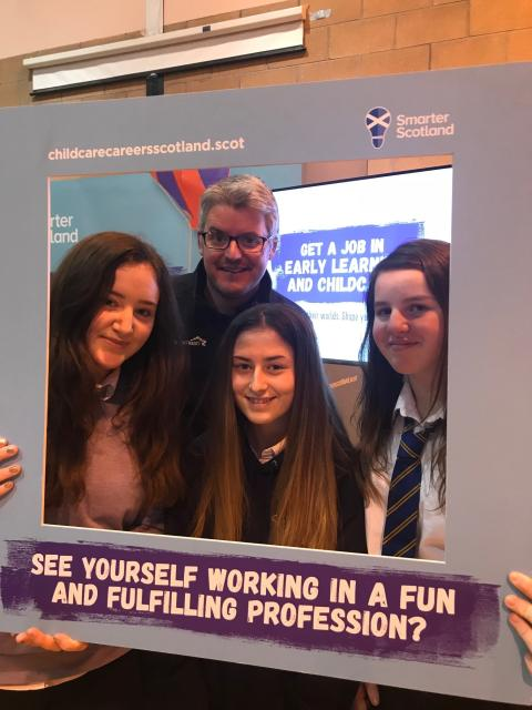 Lossiemouth High School pupils put a career in Early Learning & Childcare in the frame