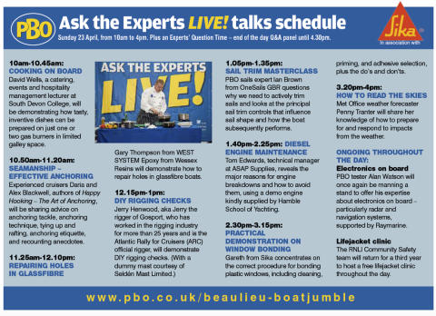 High res image - Sika - Practical Boat Owner's 'Ask the Experts Live' 2017 Talk Schedule