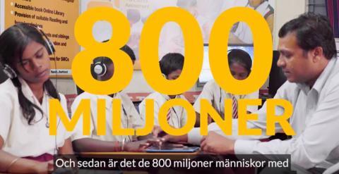800 miljoner människor lever med funktionsnedsättning i utvecklingsländer