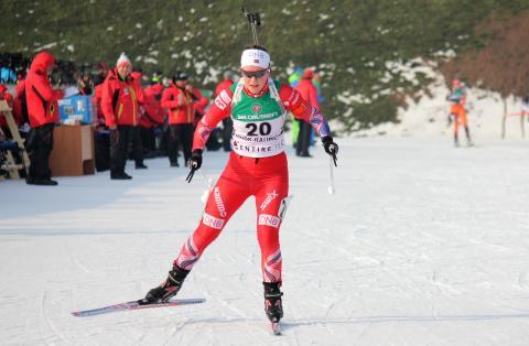 Sigrid Bilstad Neraasen, jaktstart JR-VM Minsk.