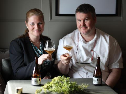 Stockholm Food Stories: Jessica Heidrich and Mathias Dahlgren Photo: St Eriks bryggeri