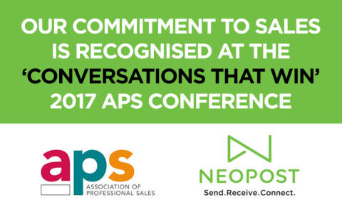 Our commitment to sales is recognised at the 'Conversations That Win' 2017 APS conference
