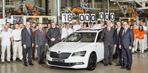 SKODA har produceret bil nummer 18 million