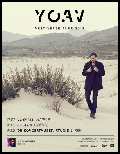 Yoav der har haft et ganske særligt forhold til Danmark lige siden sin debut for 10 år siden, kommer tilbage til DK og spiller tre koncerter!