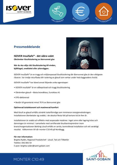ISOVER InsulSafe® - det säkra valet