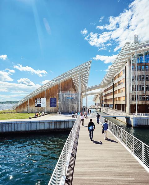 Astrup Fearnley Museum view from bridge