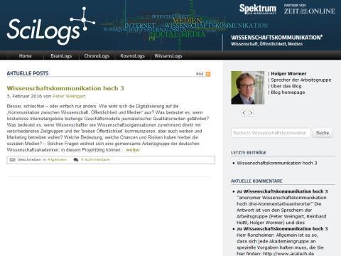 """Neuer Blog """"Wissenschaftskommunikation hoch drei"""": Welche Veränderungen bringen die sozialen Medien?"""