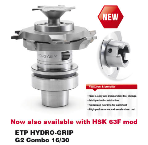 ETP HYDRO-GRIP G2 Combo 16/30 HSK 63F - Now also available with HSK 63F mod