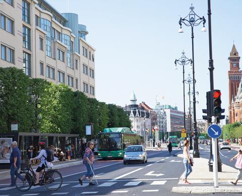 Cykling ökar och bilresor minskar i Helsingborg