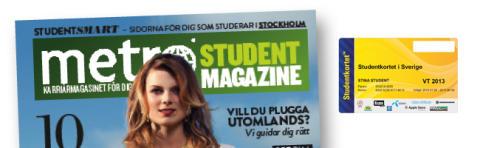 Metro och Universum satsar på Sveriges studenter - slår ihop Studentkortet AB och Metro Student Magazine