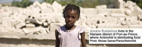 ActionAid delar ut mat och mediciner i Port-au-Prince