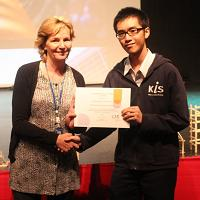 KIS Student wins CIS International Student Award 2016