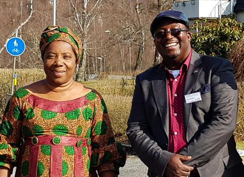 Gäster från Kongo på Sverigebesök
