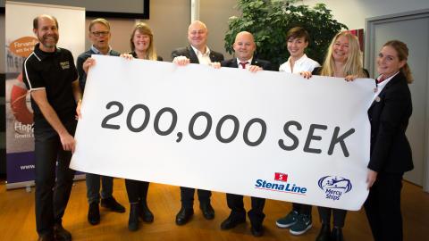 Stena Line och deras kunder rundar upp för välgörenhet